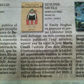 """""""Mi superabuela"""" un dels llibres imprescindibles publicats aquesta tardor"""