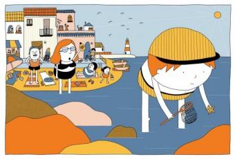 """""""Petit el peix: un còmic silenciós per als que encara no saben llegir textos"""""""